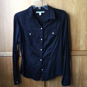 Old navy black button down